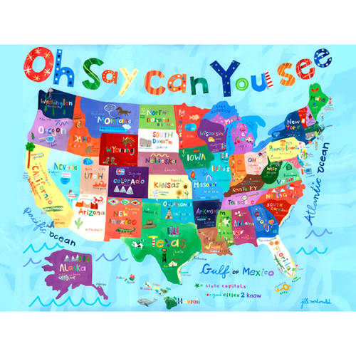 Oopsy Daisy's Oh Say Can You See Canvas Wall Art, 24x18
