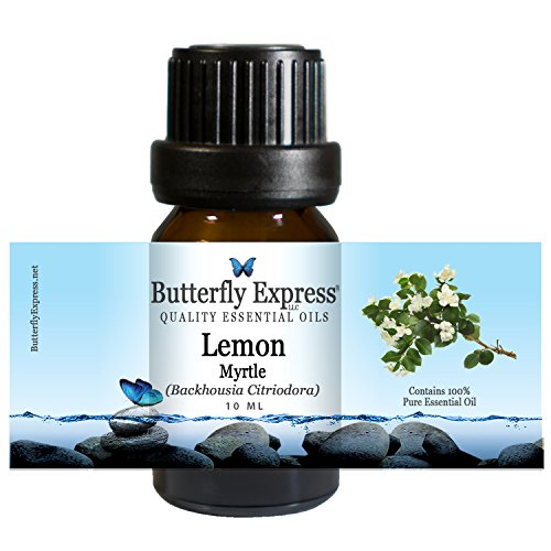 Lemon Myrtle Essential Oil 10ml - 100% Pure - by Butterfly Express