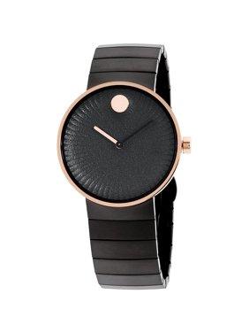Movado Women's 40mm Black Steel Bracelet Case Sapphire Crystal Quartz Analog Watch 3680026