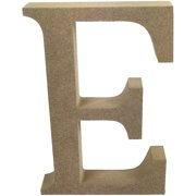Smooth MDF Blank Shape-Serif Letter E