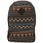 Girls Pastel Tribal Geometric Pattern Jacquard Weave Backpack