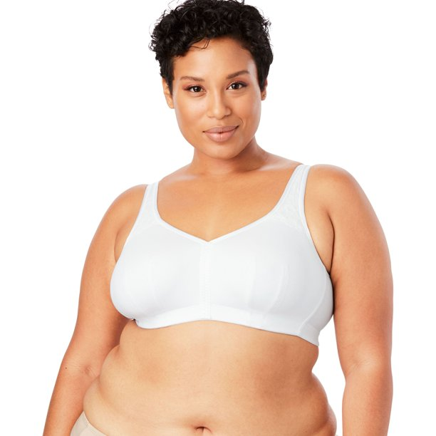 Comfort Choice Plus Size Cotton Comfort Wireless Back-hook Bra
