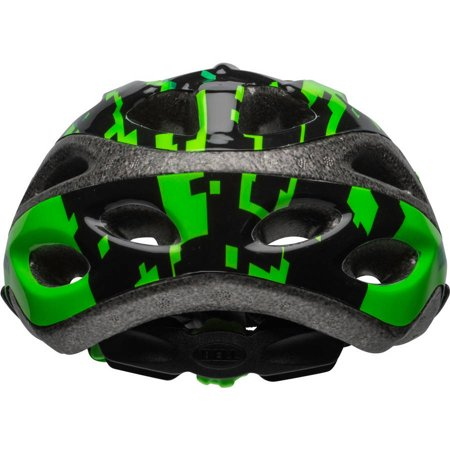 Bell Peak Green Pixels Boys Youth Bike Helmet, Black