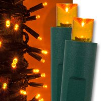 Kringle Traditions 5mm Warm White LED Christmas Lights, Mini LED String Lights; 50 Lights, Green Wire, 17ft (Boxed Set)