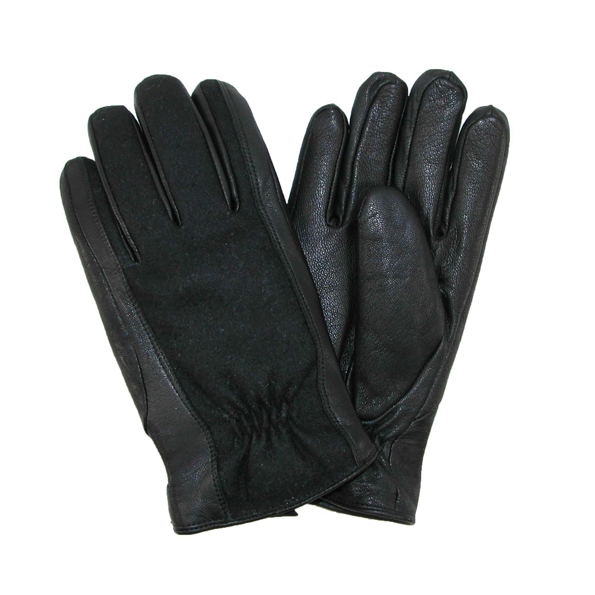 Isotoner  Men's Wool and Leather Gloves