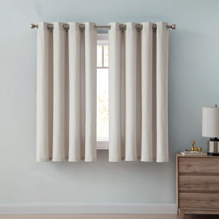 - Mainstays Dexter Perforated Grommet Top Window Curtain Panel, Multiple Sizes and Colors Available