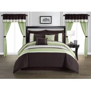 Chic Home Mykie 20 Piece Color Block Embroidered Comforter Set