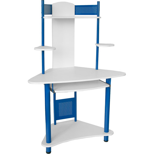 flash furniture student corner computer desk with hutch multiple colors - Corner Computer Desks