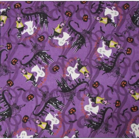 MTL® Halloween Glow In The Dark Witches and Ghosts Bandana USA Made](Asa Made Halloween)