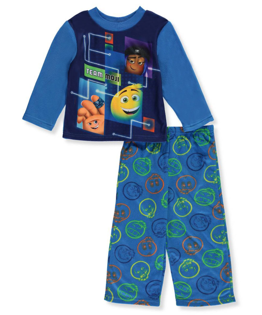 Emoji Big Boys' 2-Piece Pajamas (Sizes 8 - 20)