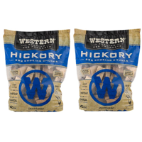 (2 pack) Western Premium BBQ Products Hickory Cooking Chunks, 570 CU. IN.