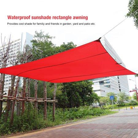 New Sand Sun Shade Sail Sunscreen Rectangle Polyester Awning Canopy Outdoor Garden Patio 4 5 5m