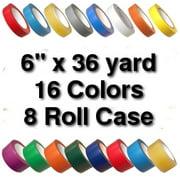 Vinyl Marking Tape 6 inch x 36 yard (8 Roll Case) - Light Green