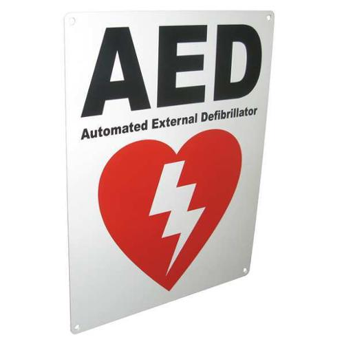 DEFIBTECH DAC-234 Safety Sign,AED, 8-1/2 x 11 In.