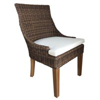 Outdoor Dining Chair in Crocodile Rattan