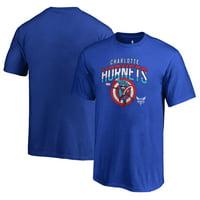 Charlotte Hornets Fanatics Branded Youth Captain's Shield T-Shirt - Royal