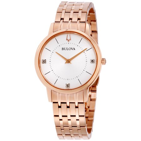 Bulova Classic Grey Dial Stainless Steel Ladies Watch 97P129