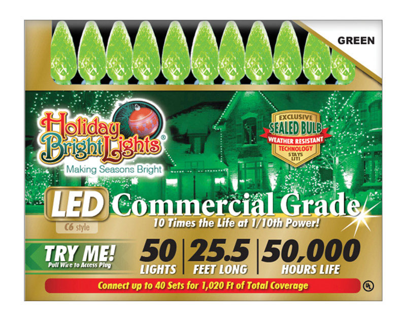 COM C6 LED 50L SET GRN by HOLIDAY BRIGHT LIGHT MfrPartNo LEDBX-C650-GR6 by Ace Trading - Holiday Bright Lights