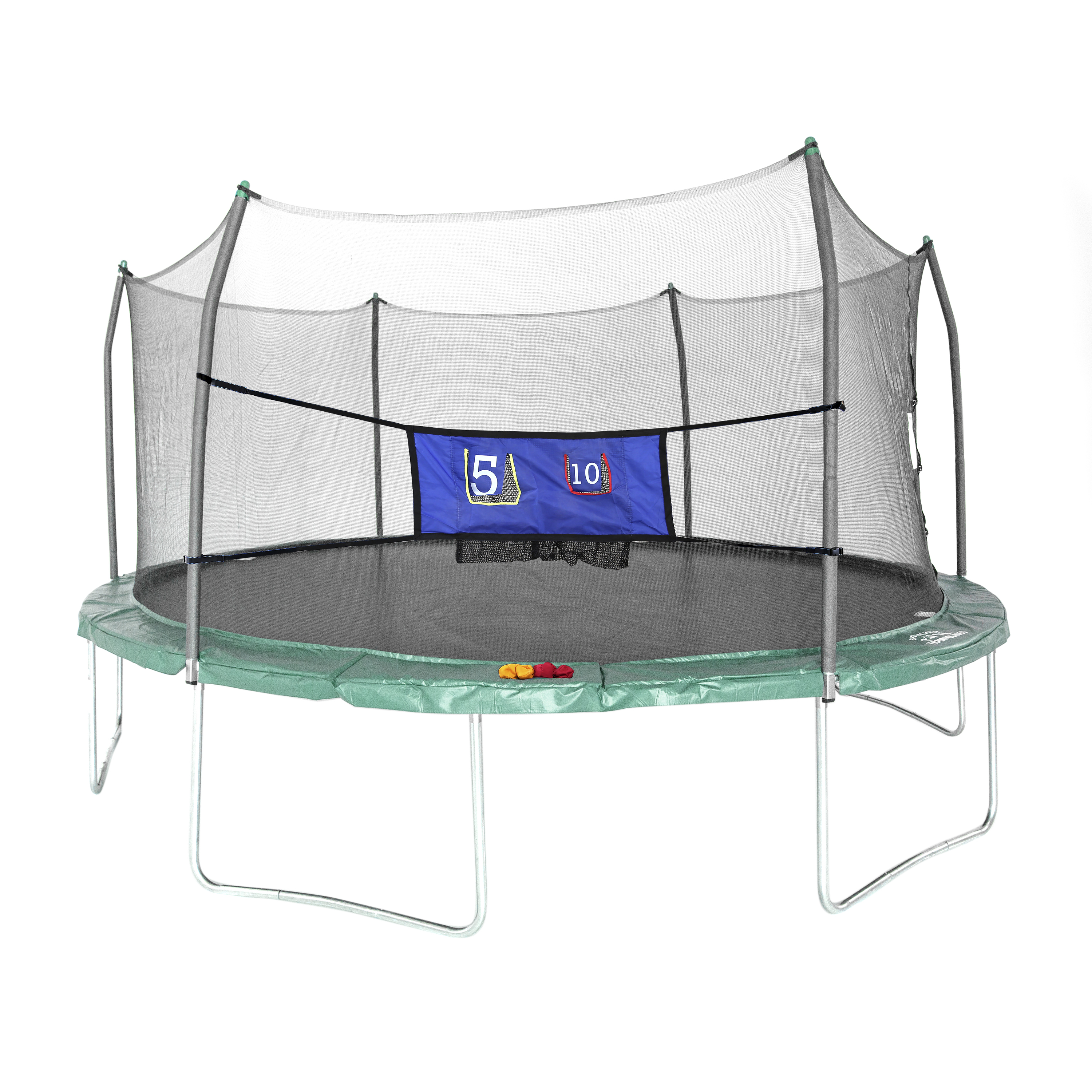 Skywalker Trampolines Green 16 Foot Oval Trampoline With: Skywalker Trampolines Oval 16-Foot Trampoline, With Toss