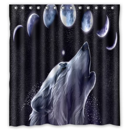 XDDJA Animal Cartoon Wolf Shower Curtain Waterproof Polyester Fabric Shower Curtain Size 60x72 inches - image 1 of 1