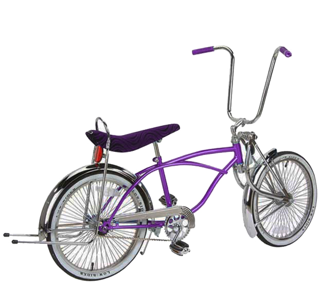 "20"" Long Springer Fork Lowrider Bike, Purple"