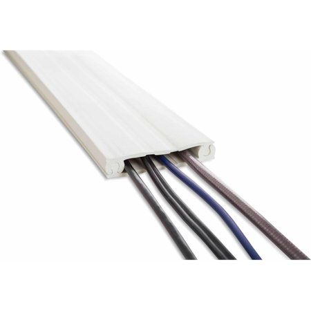 ut wire 8 39 cordline 2 way convertible cord channel for wall mount tv paintable white. Black Bedroom Furniture Sets. Home Design Ideas