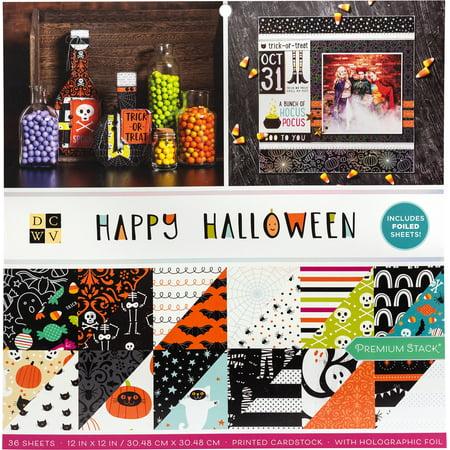 DCWV 615610 Happy Halloween Cardstock,
