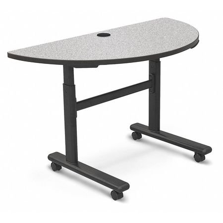 Balt Mobile Reversible Board - BALT Mobile Table,Half Round,Gray Nebula,48