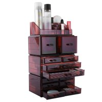 Zimtown Makeup Cosmetic Organizer Cosmetics Organizers Storage Drawers, 4 Pieces Set