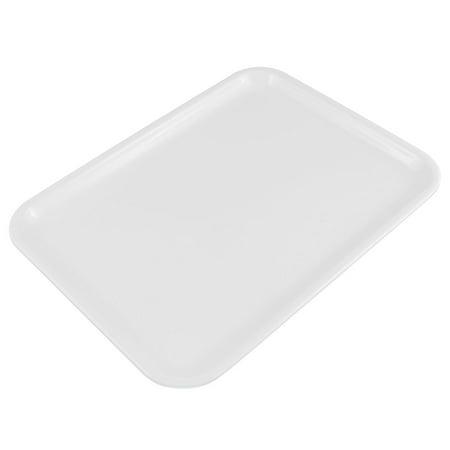 Unique Bargains Hotel Restaurant Plastic Food Cake Drinks Serving Tray White 10