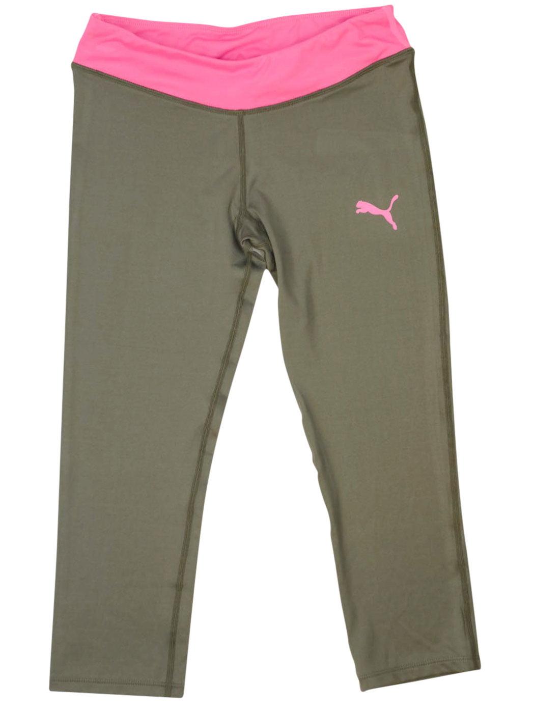 PUMA Big Girls Capri Leggings Activewear Workout Gym Crop Pants Black Yoga Pants  Active Clothing