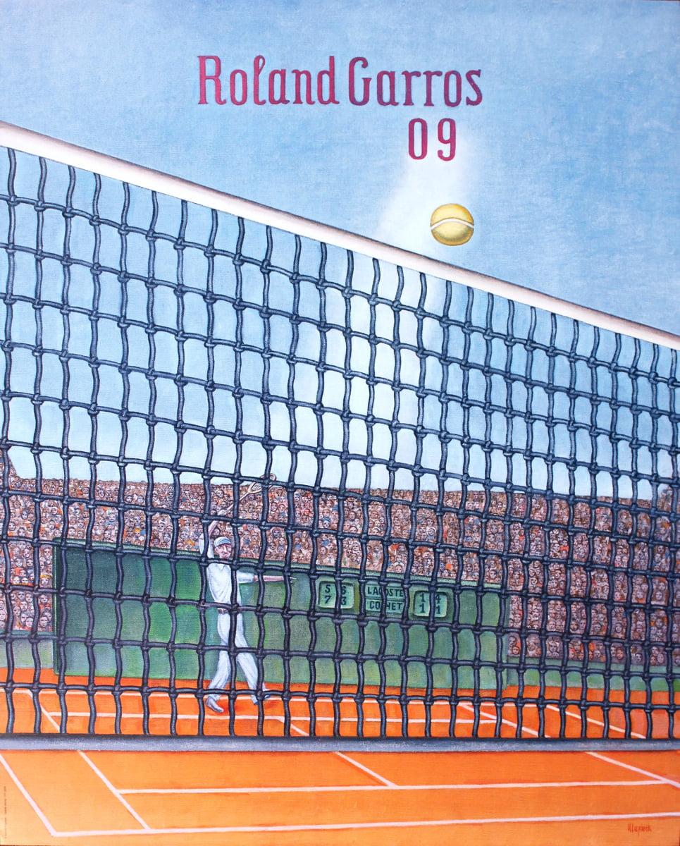 Konrad Klapheck-Roland Garros French Open-2009 Poster