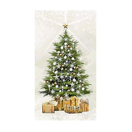 White Christmas~Christmas Tree Panel With Twinkle Lights By Northcott 24'' x 44'' Cotton Fabric ()