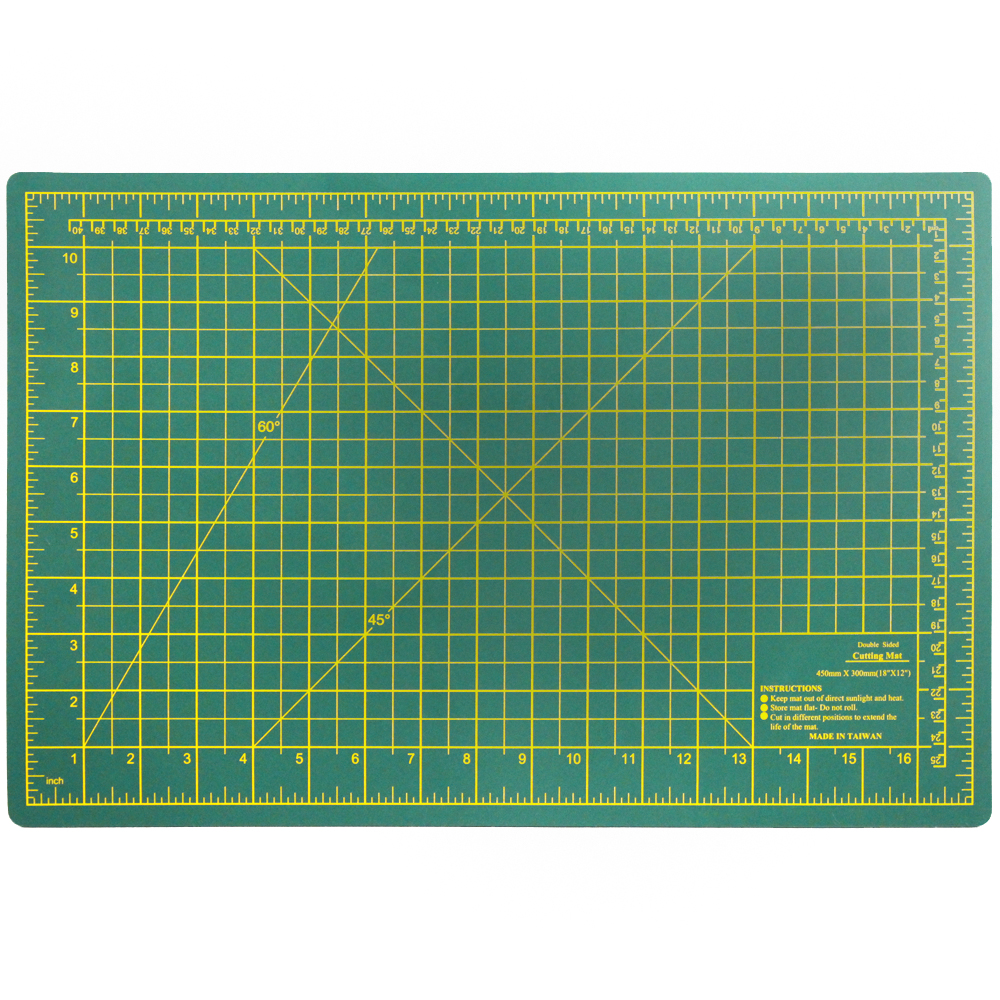 Hobby and Craft Dual Sided Self Healing Thick Cutting Board Mat - Multiple Sizes