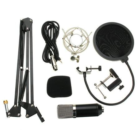 Condenser Microphone Mic Clip Studio Audio Recording Table Arm Stand Set Gift - image 10 de 12
