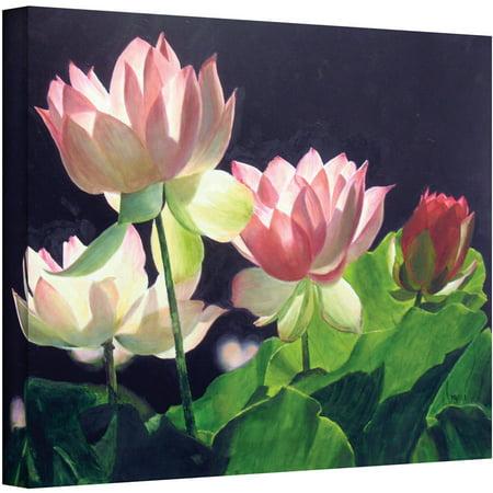 Artwall Marina Petro  Andreas Lilies  Gallery Wrapped Canvas