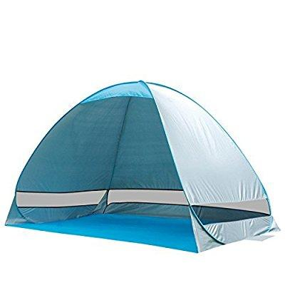 e-joy outdoor automatic pop up portable cabana beach tent 2-3 person camping fishing hiking sun shade shelter umbrella anti uv (blue)