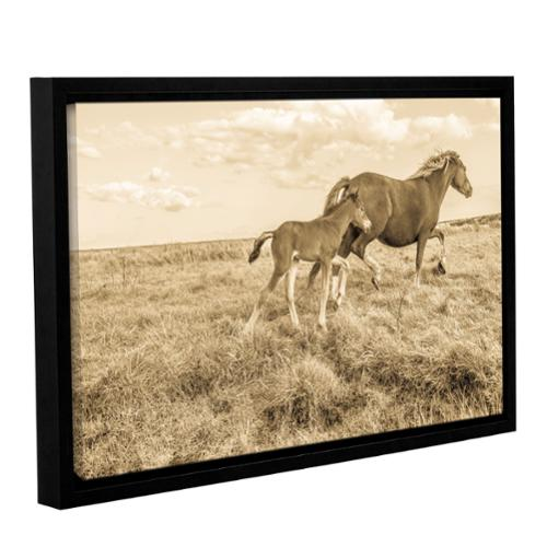 ArtWall Andrew Lever's 'Young Horse Takes Direction' Gallery Wrapped Floater-framed Canvas Small