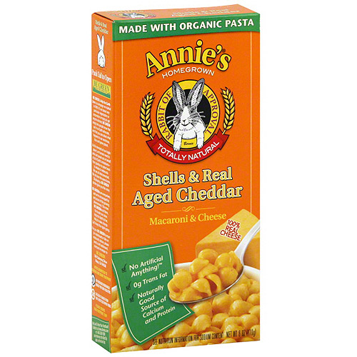 Annie's Shells & Real Aged Cheddar Macaroni & Cheese, 6 oz (Pack of 12)