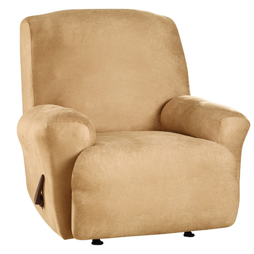 Sure Fit Stretch Leather Recliner Slipcover Brown Image 2 of 2  sc 1 st  Walmart & Sure Fit Stretch Leather Recliner Slipcover Brown - Walmart.com islam-shia.org
