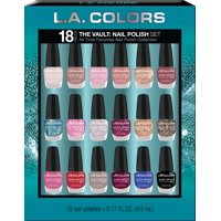 ($35 Value) L.A. Colors Nail Vault, 18 Pcs