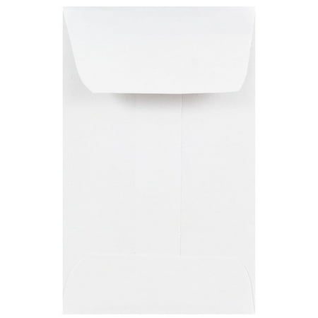 JAM Paper #1 Coin Business Envelopes, 2 1/4 x 3 1/2, White,