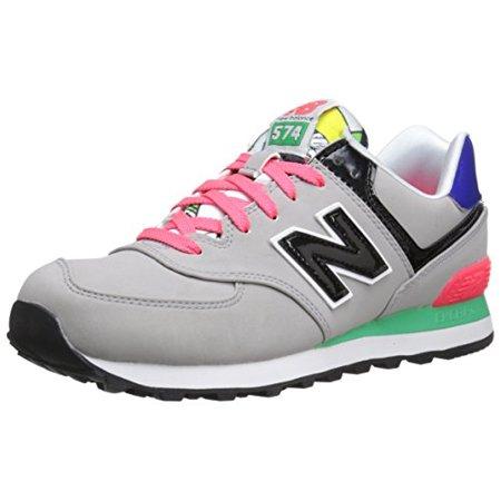 more photos 50b52 92064 New Balance WL574HRG:Classic 574 Pop Tropical GREY Comfort Fashion Sneaker  WOMEN (6)