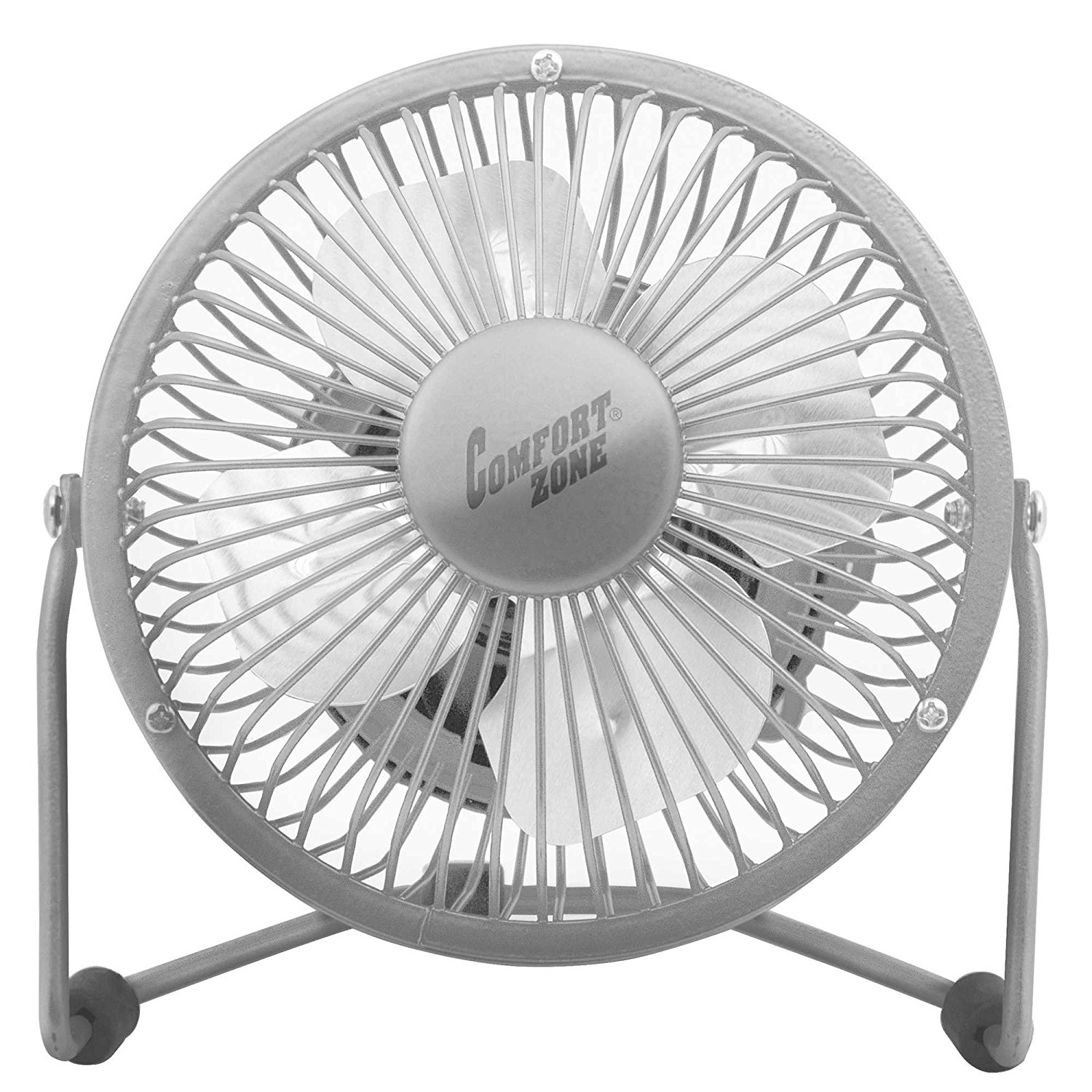 360-Degree Adjustable Tilt 4-Inch Cradle High Velocity Dual Powered Fan in Chrome, 4 Cradle Fan allows you to stay cool while working at your computer Plug this fan into any powered..,Ship from US