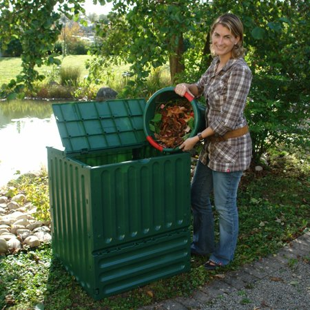 Exaco Eco King 400 Recycled Plastic 110-gal. Medium Compost Bin