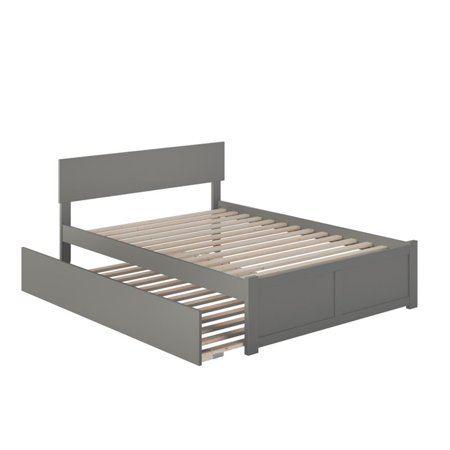 Atlantic Furniture Orlando Full Platform Panel Bed with Trundle in Gray - image 5 of 5