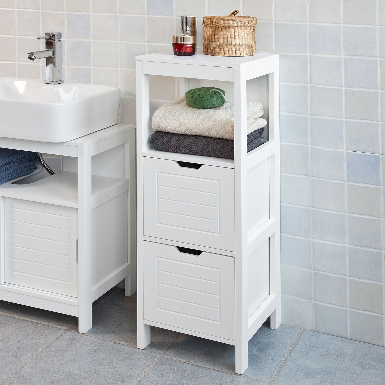 White Under Sink Bathroom Storage Cabinet haotian bathroom vanity set,white floor standing bathroom storage