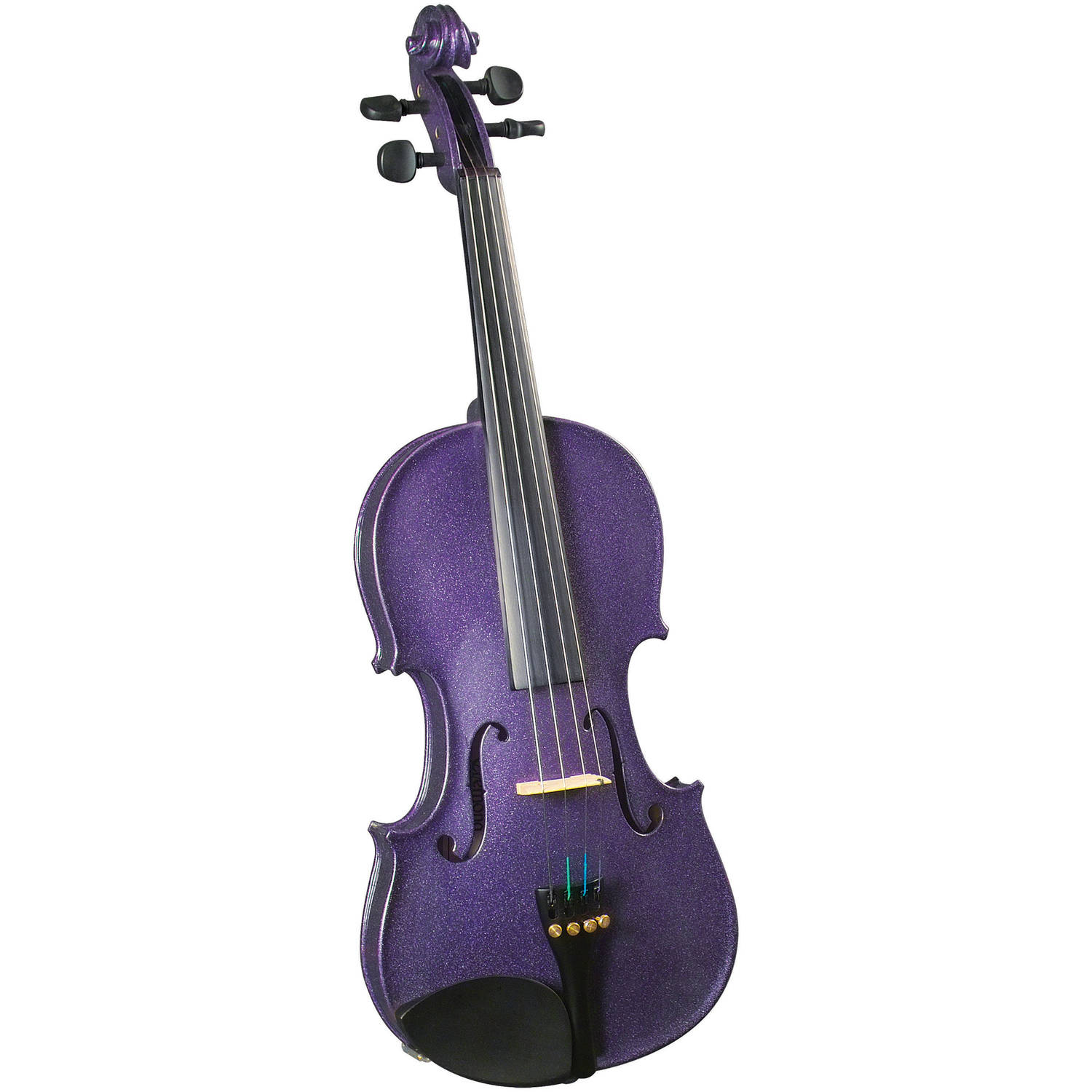Cremona SV-130 Premier Novice Violin Outfit Sparkling Purple 4 4 Size by Generic