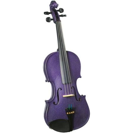 Cremona SV-130 Premier Novice Violin Outfit - Sparkling Purple - 4/4 - Villain Outfit