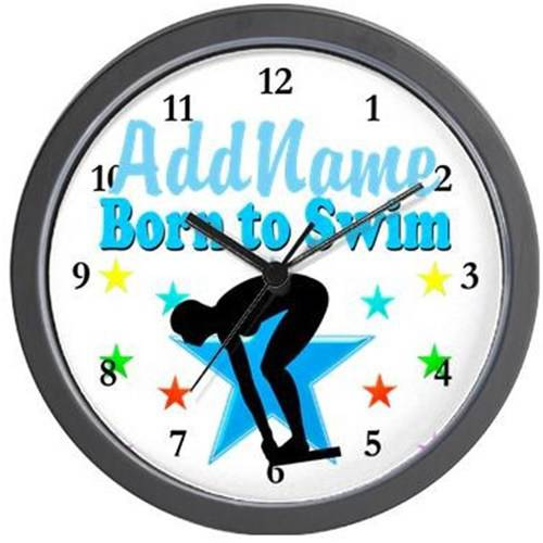 Cafepress Personalized 1st Place Swimmer Wall Clock